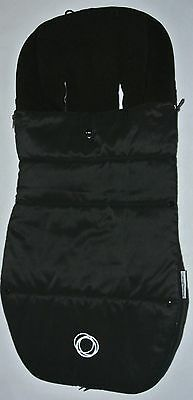 Bugaboo Universal Footmuff In Black With Toggle And Velcro Free Postage