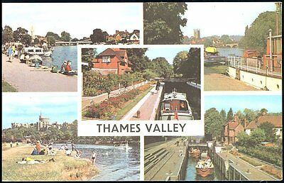 Postcard Of Thames Valley  -  Five Views