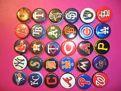 30 Diff Used Miller Lite Mlb Set New  Beer Bottle Caps/crowns  Nice Canada