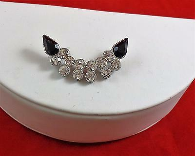 VINTAGE Sew On Hat Pin RHINESTONES ART DECO Lot 106 Gift Boxed