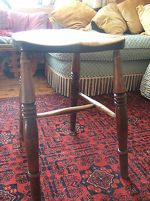 A Late Victorian Beech and Elm Stool