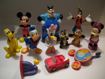 NEW Mickey Mouse Clubhouse*Toy Figure Lot+Book Playset Figurines Cake Toppers