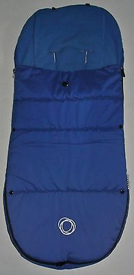 Bugaboo Universal Footmuff In  Blue With Toggle And Velcro Free Postage