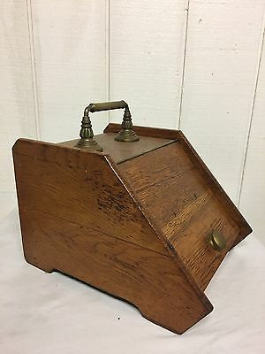 Vintage Fire Place Pit Burnt Ash Wood Removal Scuttle