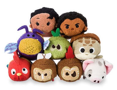 US Disney Store Moana Mini Tsum Tsum Complete set of 9 NWT! SOLD OUT