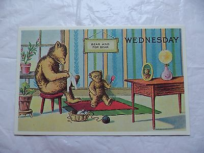 Replica of the Antique Original Bear AND FOR BEAR Wednesday Postcard,unposted