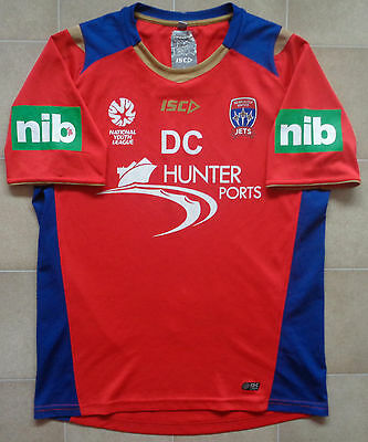 ISC Newcastle Jets 13/14 NYL Staff Issue Training Jersey - DC. Mens L, VGC.