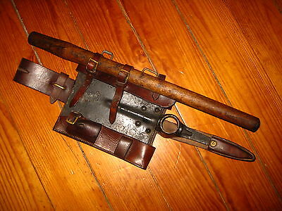 Ww1 Portugal Portuguese Cep 1916 Trench Shovel Hoe Pick Leather Cover Pouch Rare