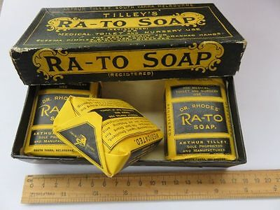 Old Antique Tilleys Ra-To Soap In Box Medical Toilet & Nursery Australian