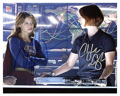 "-(SUPERGIRL) --""Melissa Benoist"" & ""Chyler Leigh"" Autographed 8x10 RP-"