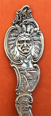 Pround Indian New York Sterling Silver Souvenir Spoon