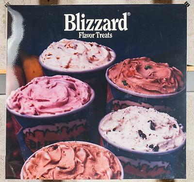 Dairy Queen Promotional Poster For Backlit Menu Sign Blizzard Favorite Treat dq2
