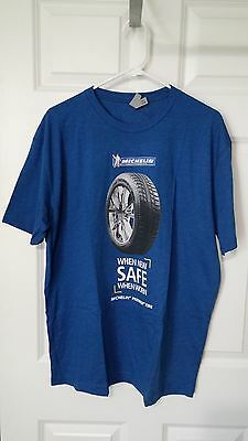 Michelin T Shirt Blue Large New