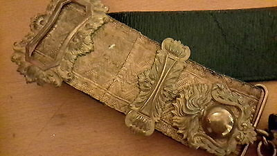 ww1 artillary leather and bullion dress pouch and belt