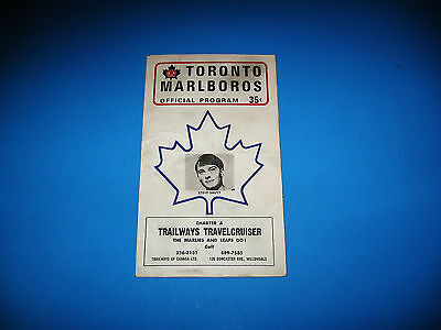1971 Marlboros (Marlies) OHL Program / Steve Shutt (Pre RC) Cover