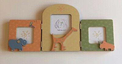 John Lennon Carter's REAL LOVE Jungle Themed Baby Picture Frame for 3 photos