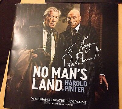 Patrick Stewart & Ian McKellen 4 Cast Signed No Man's Land Programme To Harry