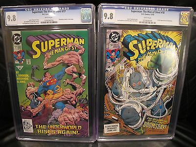 Superman The Man of Steel #17 & #18 CGC 9.8 Doomsday Death of DC