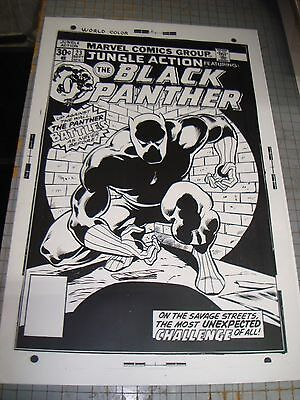 Black Panther N# 23 Marvel Amazing Noir Cover Art Production Transparency