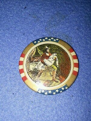Early Patriotic Celluloid Hand Mirror VGC!