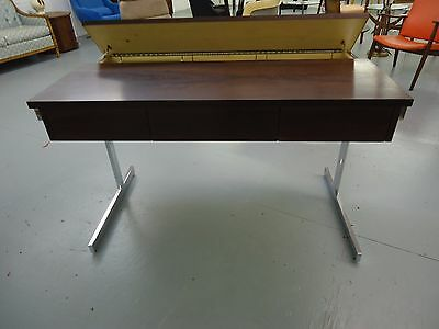 Mid Century Modern Lane Desk Rosewood Chrome