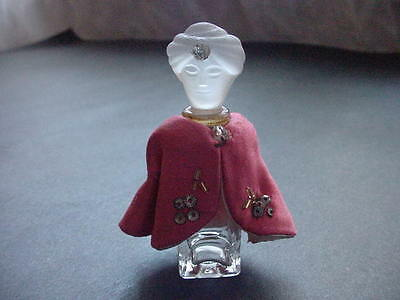 Vintage Prince Douka Marquay Figural Glass Perfume Bottle Made In France