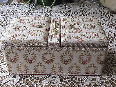 Vintage Schmid Sewing Basket with Music Box EUC Japan