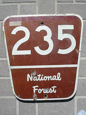 Old Forest Service Forestry Wood National Park Sign