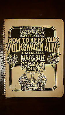 how to keep your volkswagen alive vintage repair manual circa 1969