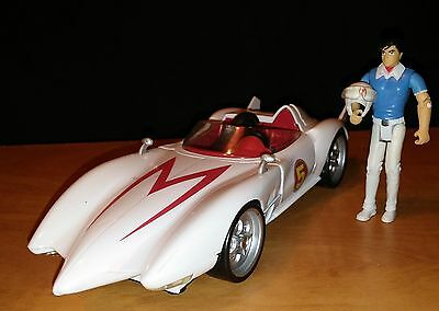"Speed Racer Mach 5 8"" Race Car with Opening hood & speed racer figure"