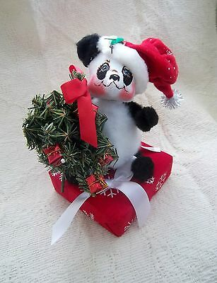 Annalee 9 Inch Present Panda Bear-New With Tags-Exclusive-Rare!