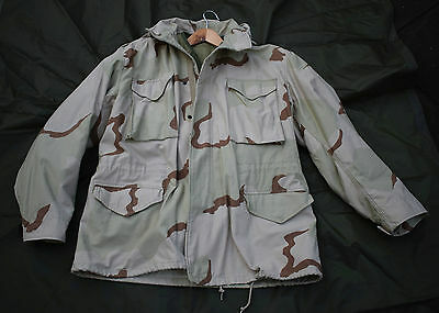 US Army, Desert Tri-color M65 Combat Field Jacket + FREE LINER - Size Large US