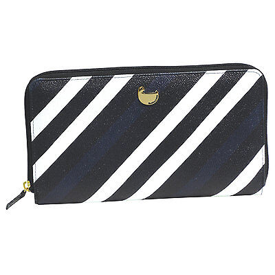 """Buxton Travel Essentials """" All About Travel""""  Wallet  Black/White  Striped"""