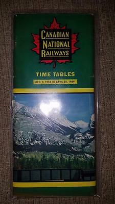 The Canadian National Railways Time Table 1959