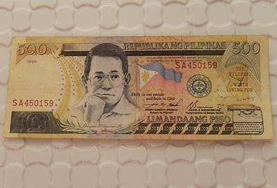 Philippines 500 Pesos Banknote Series 1999 Note F133F