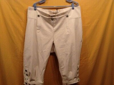 Knee Breeches, Size 39 Natural - Rendezvous, Mountain Man, Colonial, Pirate