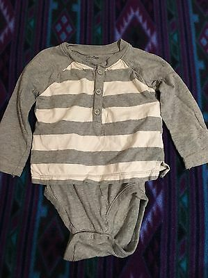 Baby Gap grey and white Striped One piece Size 12-18 months