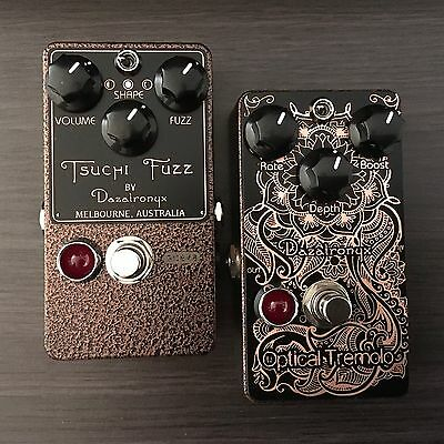 DAZATRONYX - Tsuchi Fuzz & Optical Tremolo BUNDLE - Penny Vein Copper