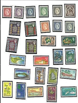St. Vincent - Lot of 57 Stamps Years From 1964 Thru 1969