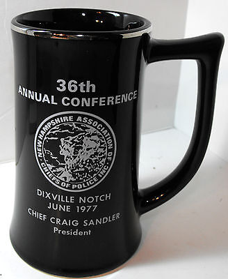 1977 New Hampshire Assoc Chiefs of Police 36th Annual Beer Stein Mug BUNTINGWARE