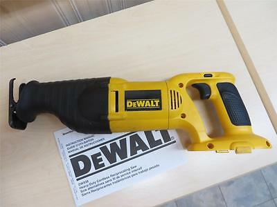 DeWalt DW938 18V Variable Speed Reciprocating Saw Sawzall. Tool only. No battery