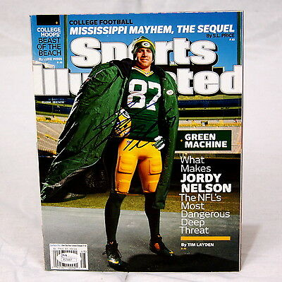 Jordy Nelson Green Bay Packers Signed Sports Illustrated JSA