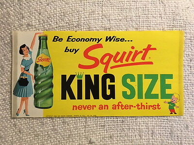 Squirt Boy Soda Pop Vintage 1960 Paper Little Squirt Chicago Illinois