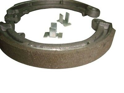 Early Vespa V100 Front Brake Shoes With Clips-Scooter Spare Parts & Accessories