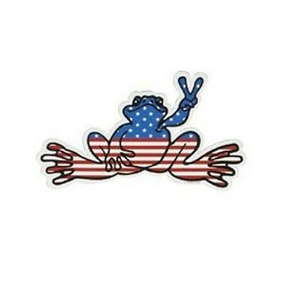 Peace Frogs Usa Flag Frog Sticker