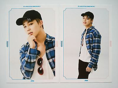 Set of 2 BTS JIMIN Official Photo Post card Japan fanmeeting fan meeting vol. 3