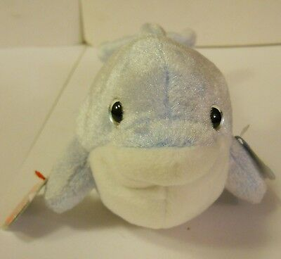 """TY BEANIE BABIES 2.0 """"CLIPPER THE DOLPHIN"""" He Needs a GOOD Home!  NWT's!"""