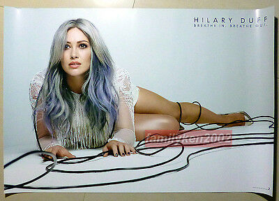 Taiwan RARE Official Promo Poster NEW! Hilary Duff 2015 Breathe In Breathe Out