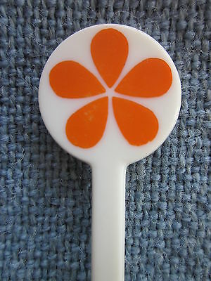 Aloha Airlines Swizzle Stick Drink Stir White & Orange ~ EXCELLENT
