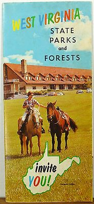 1967 West Virginia State Parks and Forests brochure map Cacapon Lake cover b